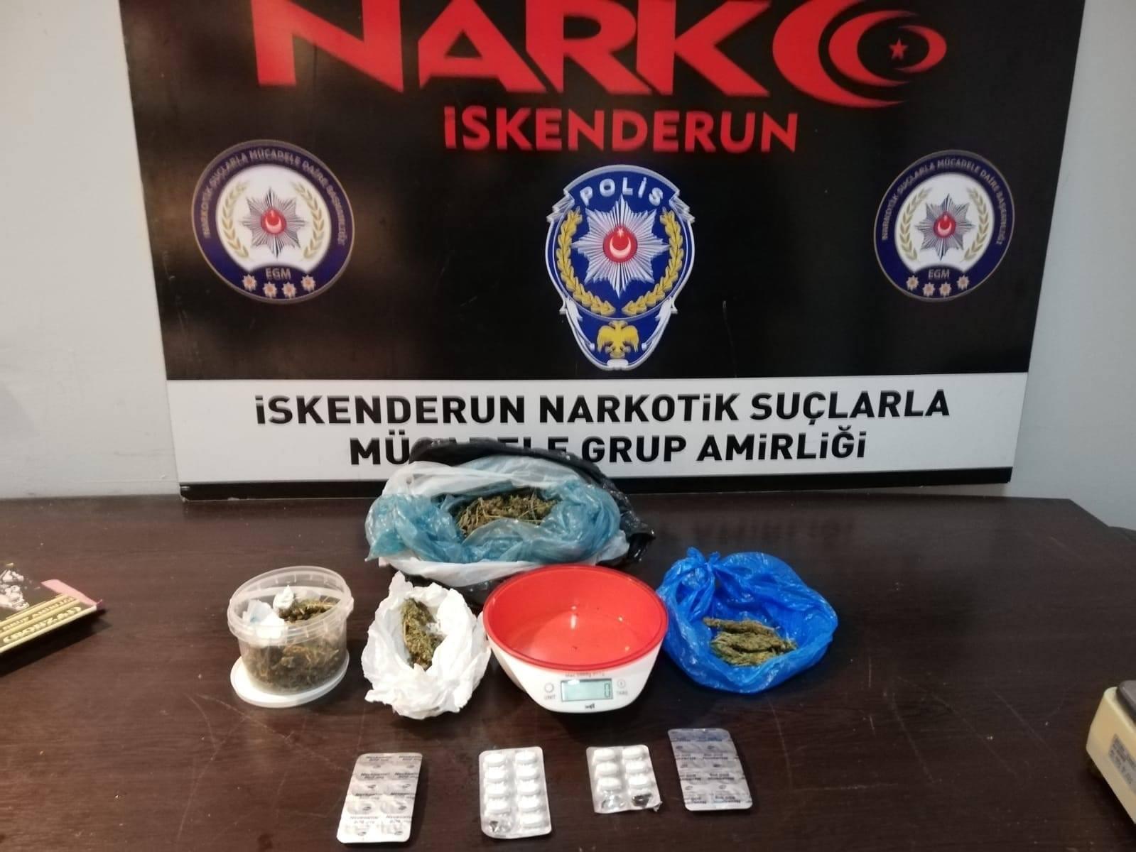 İskenderun'da Narkotik Operasyon : 1 Gözaltı