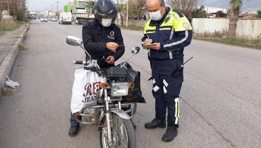 Payas'ta Motosiklet Denetimi