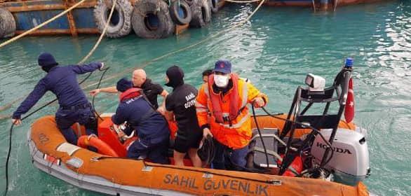 Denize Düşen Kadını, Sahil Güvenlik Ekipleri Kurtardı