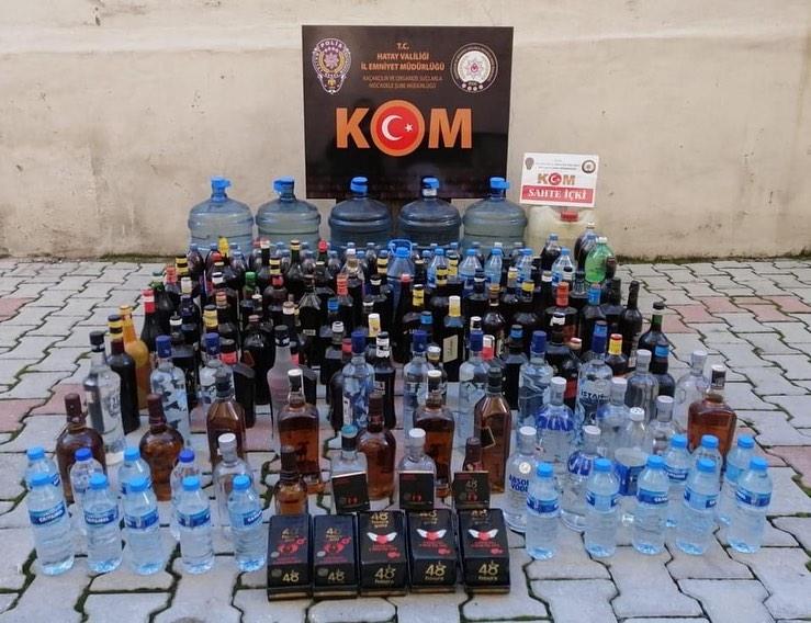 Kaçak İçki Operasyonu 8 Gözaltı