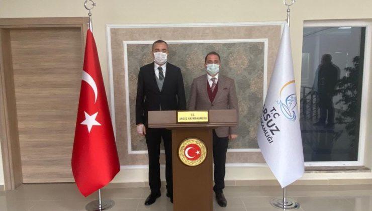 İSTE Rektörü Depçi'den Arsuz Kaymakamı Sarı'ya Ziyaret