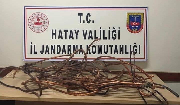 ELEKTRİK KABLOSU ÇALAN ŞÜPHELİ GÖZALTINA ALINDI