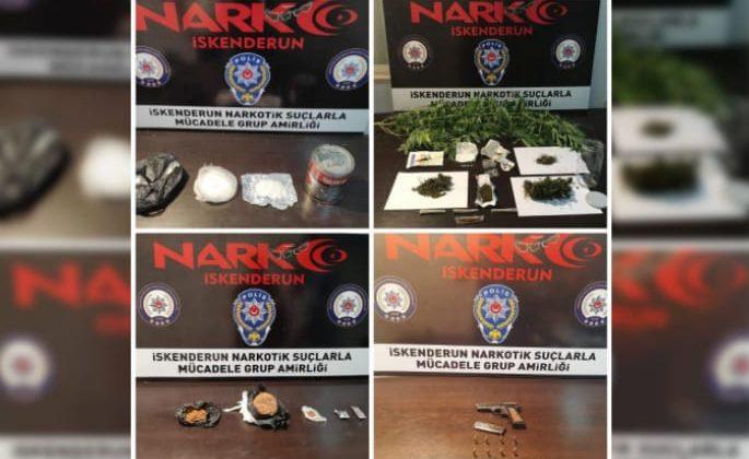 İskenderun'da 85 Şahsa Uyuşturucudan İşlem Yapıldı