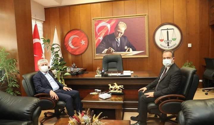 Vali Doğan'dan Hatay Barosu Başkanı Açıkalın'a Ziyaret